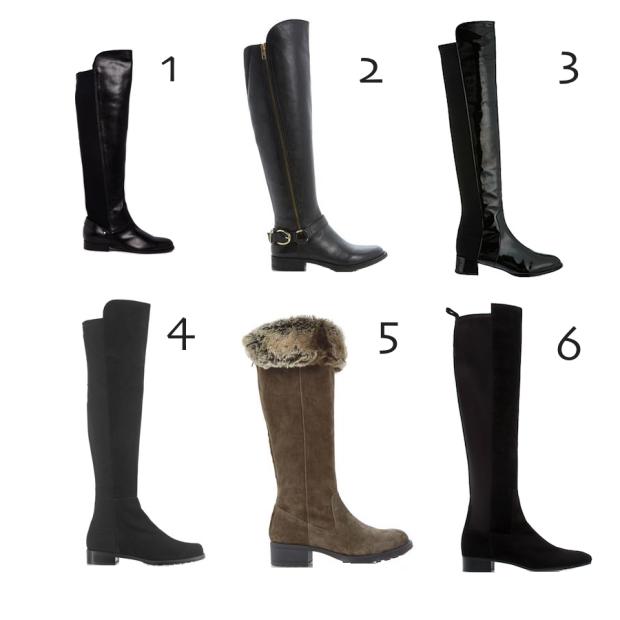 Flat Long Boots