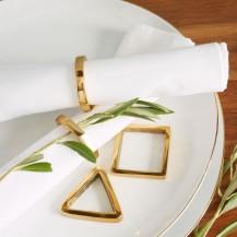 Set of 4 Art Deco Napkin Rings