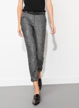 Uterque Cropped cigarette trousers