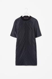 Cos navy pleated dress