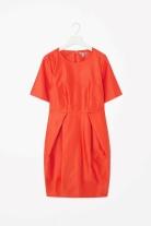 Cos coral cotton dress