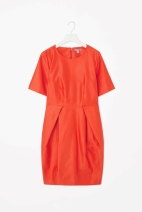 Cos coral cotton dress