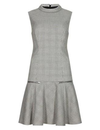 M&S checked drop waist dress