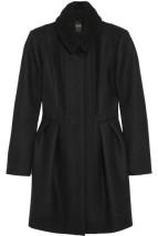 Maje boucle wool-blend coat