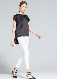 Uterque top with folds