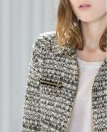 Zara short zipped boucle jacket