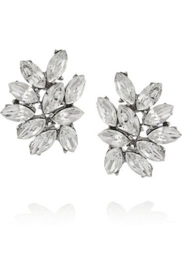 Love these Swarovski chunky cluster earrings